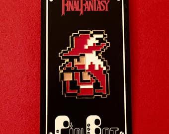 Final Fantasy 1 NES - 8-Bit Enamel Pin - Red Mage - Lapel Pin - Hat Pin
