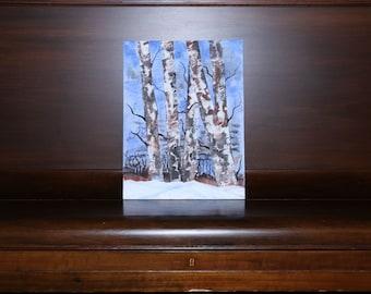 Winter landscape on canvas