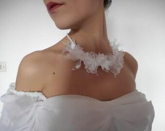 Necklace + bracelet handmade and unique wedding.