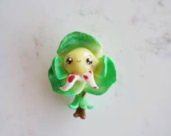 Flower Babee Charm - Green Orchid