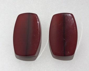 Bakelite clips manufacturing Italian year 1970 earrings