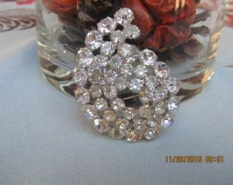 Vintage RHINESTONE BROOCH, Costume Jewelry, Weiss Jewelry