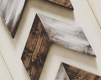 Wooden Arrows, Chevron Arrows, Decorative, Gallery Wall, Wood, Farmhouse Decor, Nursery, Set of Three