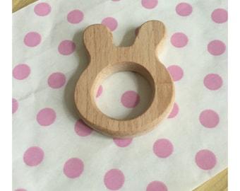 Toy wooden rabbit teeth
