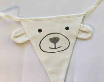 fabric banner, fabric bunting, fabric garland, fabric flags, animal banner, animal, polar bear, party supply