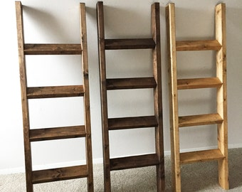 Blanket Ladder, Quilt Ladder, Bedroom Blanket organizer, Rustic Decor, Farmhouse, Rustic Ladder