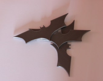 Dark Knight style Batarangs (set of 3)(3D printed)
