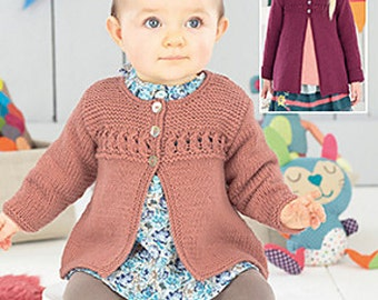 Sweater Knitting Pattern Leaflet Sirdar 4493 Snuggly DK, 0-7 years