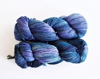 Malabrigo Arroyo Sport Weight 856 Azules Blue Hand-Dyed Yarn