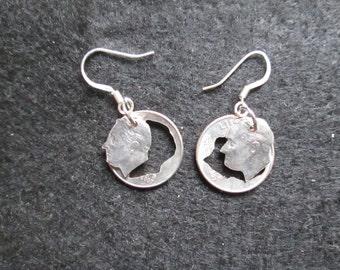 Roosevelt dime earrings
