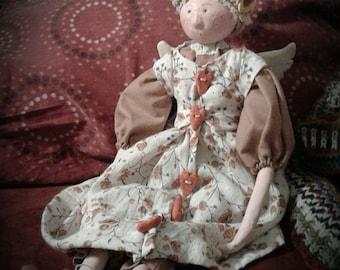 Handmade unique angel doll
