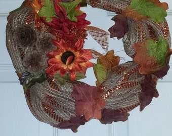 Autumn flower wreath
