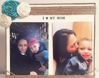 i love my mom frame mothers day frame picture frame for mom grandma frame aunt frame