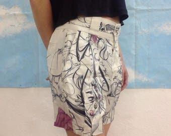 Prada shorts//Vintage shorts//Vintage Prada//Silk shorts//Prada silk shorts.
