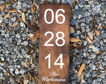 Personalized Wedding Date Sign, Wedding Gift, Wedding Sign, Special Date Sign, Custom Date Sign