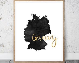 Germany Art Print, Germany Printable Art Print, Instant Download, Germany Wall Art, Travel Printable, Germany Art Print, Wall Decor