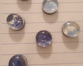 Glass magnets set of 6