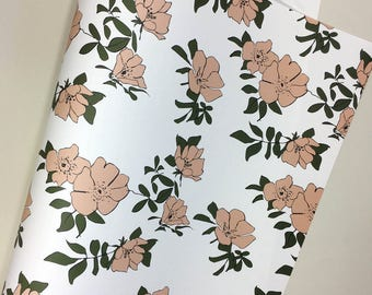 Rose Gift Wrap. Wrapping Paper