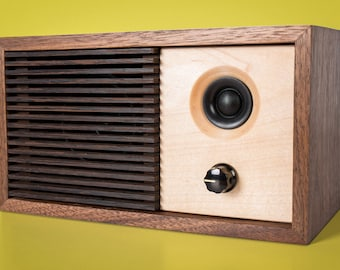 Powered Bluetooth Speaker - Walnut