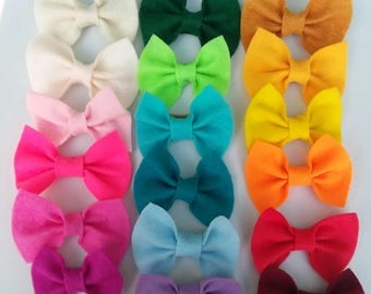 Felt bows- small (6 colors)