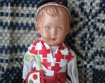 ship free Vintage Historical Costume Doll8 in tall FREE SHIPPING in usa