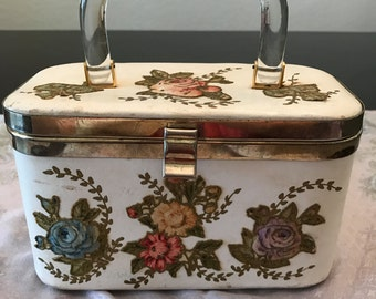 Vintage Lily Bet Box Purse with Lucite Handle
