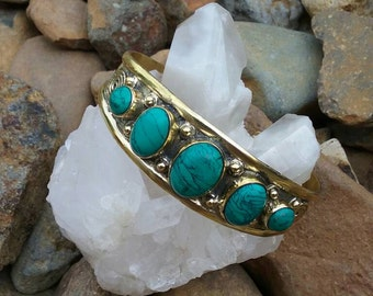 Gypsy Brass with Turquoise Cuff