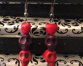 Funky Skull Earrings