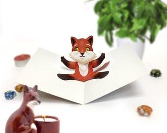 Fox Card / Fox Pop Up Card / Fox Birthday Card / Birthday Pop Up Card / Animal Pop Up Card / Pop Up Card / Happy Birthday / Birthday Card