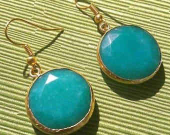 Chalcedony earrings/Tibetan Earrings Chalcedony