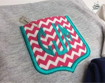 Girls Pocket Tee ~ Monogram Pocket Tee ~ Pocket TShirt ~ Monogrammed Tee ~ Chevron Pocket Tee ~ Embroidered Pocket ~ Girls Gift
