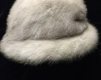 Vintage Grey Mink Fur Hat by Leopold