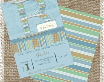 Printable Boys Baby Shower Announcements