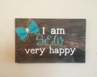Sew Happy plaque