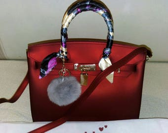 Birkin bag - jelly bag in the style of one of the most popular and famous bag in the world the Hermes Birkin bag.