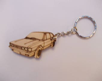 Scirocco Keyring Etched detail wooden