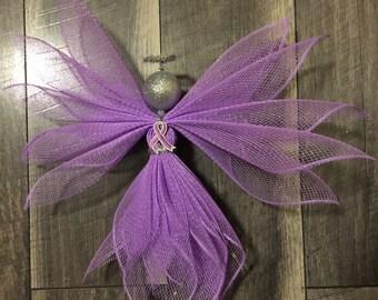 Testicular cancer awareness angel, testicular cancer, awareness decor, angel decor, testicular cancer awareness ribbon