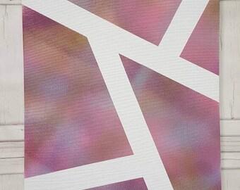 Purple canvas, pink canvas, gold canvas, girls canvas, painting, spray paint canvas, funky canvas, girls bedroom decor