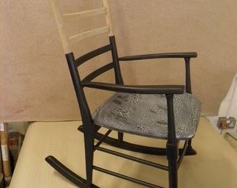 Funky Retro Danish Rocking Chair