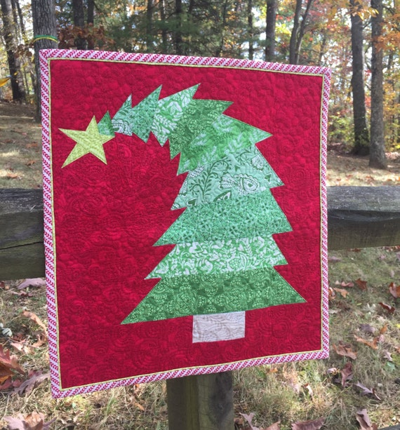 Paper Pieced Christmas Tree Pattern: The Crooked Christmas Tree Mini Quilt Pattern PDF Download
