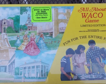Vintage new in box 1 982 All About Town - the game of Waco, Texas