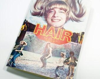 vintage sketchbook bullet journal | film programme | Hair for movie and film lovers hippies | handmade