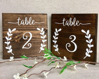 Set of 15 Wedding Table Number Signs, Table Numbers, Rustic Wedding Table Number Signs