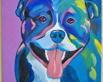 Custom Pet Painting, Pet Portrait, Pop Art, Dog, Cat, Acrylic Painting, Canvas