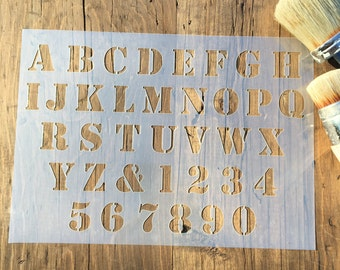 Alphabet Stencil, Number Stencil, ABC Stencil, Capital Stencil, Wall Art, Name Stencil, Furniture painting, Wall signs, Baby Stencil