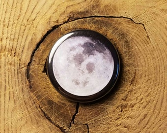 "Full Moon (1-1/4"" Pinback Button)"