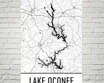 Lake Oconee Georgia, Lake House Decor, Lake Oconee GA, Lake Life, Lake Signs, Lake Art, Oconee Lake Art, Lake House Wall Art, Lake Pictures