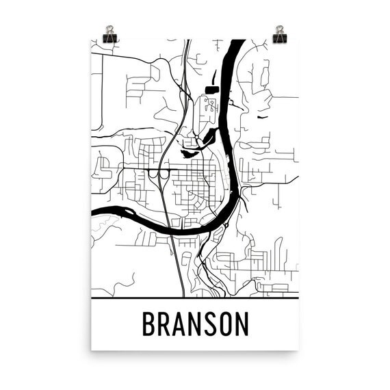 Branson Map Branson Art Branson Print Branson Mo Poster
