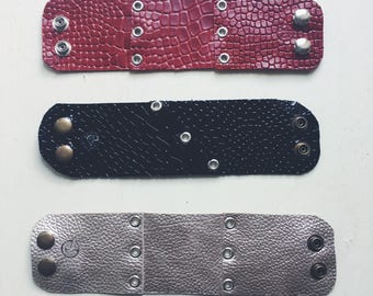 Handmade Leather Rocker bracelets.