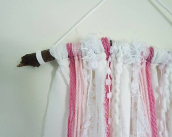 Pink Branch Wall Hanging